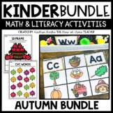 Autumn Kindergarten Math and Literacy Bundle