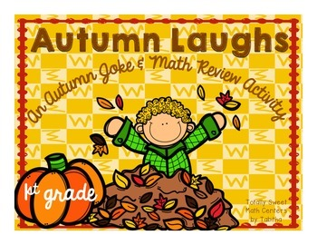 Autumn Laughs- A Math Review and Joke Walk the Room Gr.1