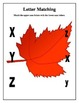 Autumn Leaf ABC Letter Matching Worksheets