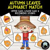 Autumn Leaf Alphabet Picture Match Cards Upper & Lower Case