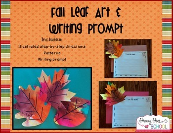 Autumn Leaf Art and Writing Prompt