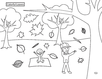 Autumn Leaf Identification Coloring Page