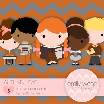 Autumn Leaf - Little Readers Clip Art