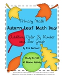 Autumn Leaf Math Duo: Color-By-Number Addition and Bar Graph