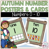 Autumn Leaf Number Posters & Flash Cards