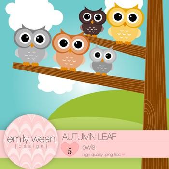 Autumn Leaf - Owl Clip Art