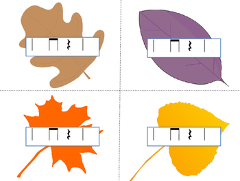 Autumn Leaf Races--a rhythm game to practice ta titi rest