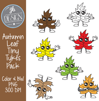 Autumn Leaf Tiny Tykes (JB Design Clip Art for Personal or Commercial Use)