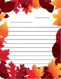 Autumn Leaf Writing Activity Paper