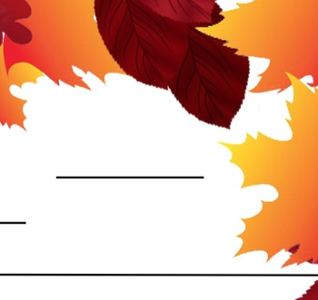 Autumn Leaf Writing Activity Paper