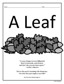 If I Were A Leaf: Science And Fictional Narrative Writing