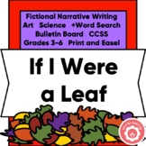 Autumn Writing Fictional Narrative, Bulletin Board, CCSS 3-6 Print and Digital