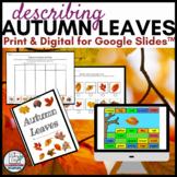 Autumn Leaves Activity for Google Slides™ plus print | Usi