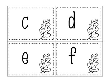 Autumn Leaves Alphabet Matching Activity