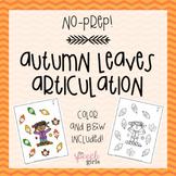Autumn Leaves Articulation {No-Prep}