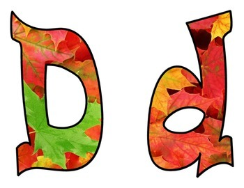 Autumn Leaves Bulletin Board Letters