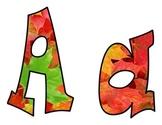 Autumn Leaves Bulletin Board Letters