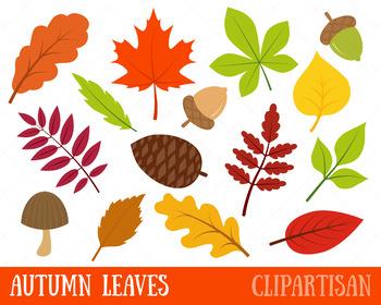 Fall Leaves Clip Art, Autumn Leaves