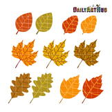 Autumn Leaves Clip Art - Great for Art Class Projects!