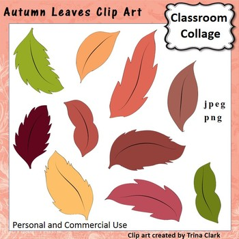 Autumn Leaves Clip Art - color - personal & commercial use
