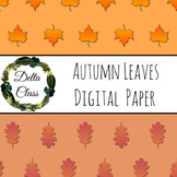 Autumn Leaves Digital Paper Backgrounds