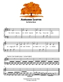 Autumn Leaves - Elementary Piano Solo with Teacher Duet