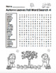 Autumn Leaves Fall Word Search 1!  Autumn Word Fun! (Color and Black Line)
