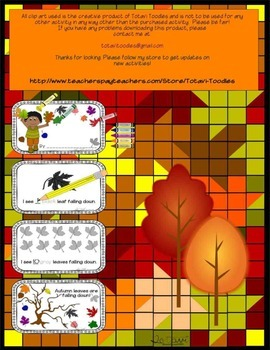 Autumn Leaves Falling - Number and Color Book