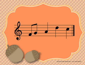 Autumn Leaves Interactive Melody Reading Practice Game {pentatonic}