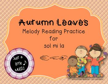 Autumn Leaves Interactive Melody Reading Practice Game {sol mi la}