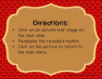 Autumn Leaves - Interactive Reading Practice Game {ta titi}