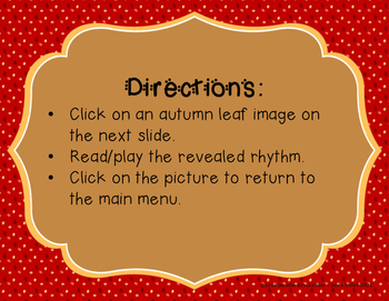 Autumn Leaves - Interactive Reading Practice Game {ti tom}