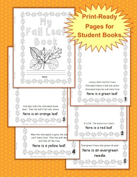 Autumn Leaves & Reading Mini-Unit: My Fall Leaf Book w/Canadian Spelling option