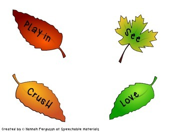 Autumn Leaves Verb Tense Activity FREEBIE