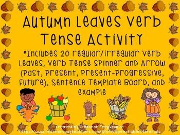 Autumn Leaves Verb Tense Activity FREEBIE