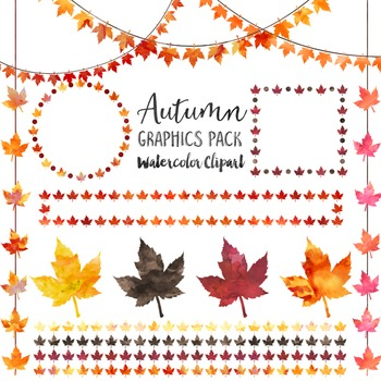 Autumn Leaves - Watercolor Graphics Pack