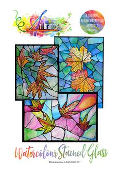 Autumn Leaves - Watercolour Stained Glass