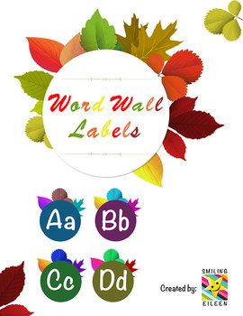 Autumn Leaves Word Wall Labels