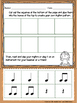 Autumn Leaves -- Worksheet pack for practicing rhythm & me