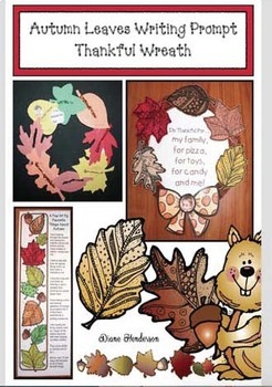 Autumn Leaves Writing Prompt Thankful Wreath