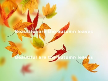 """""""Autumn Leaves are Falling"""""""