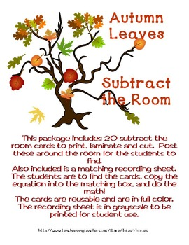Autumn Leaves of Learning Subtract the Room