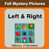 Autumn: Left & Right side - Color by Emoji - Mystery Pictures