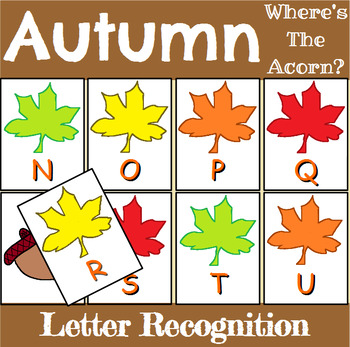 Autumn Letter Recognition Center or Whole Group Game
