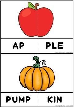 Autumn Letter & Syllable Puzzles