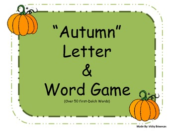 Autumn Letter & Word Game
