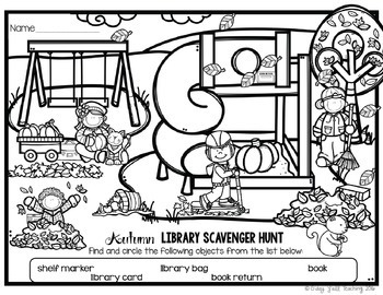 Library No Prep Printables- Autumn Fall Themed