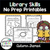 Library No Prep Printables- Autumn Fall Themed
