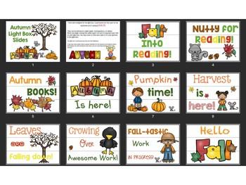 Light Box Autumn Quotes
