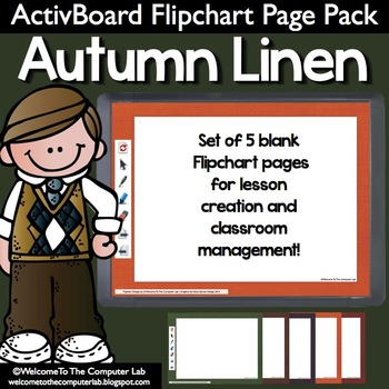 Autumn Linen ActivBoard Flipchart Page Pack